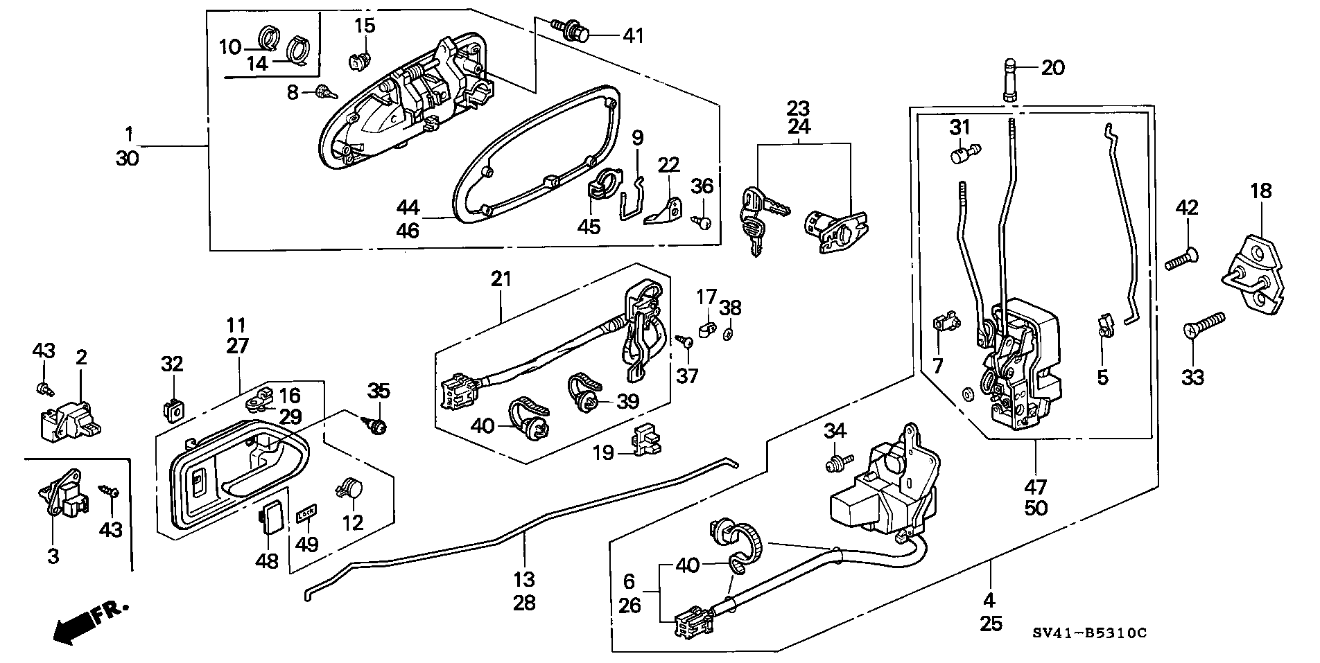 Genuine Honda 72131-SV4-003 Handle Rod