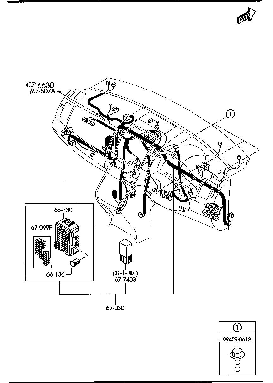Mazda Mpv Ly3p Ajlv07 Body Electrical 6702 Car Parts Accessories Wire Harness Dash Board