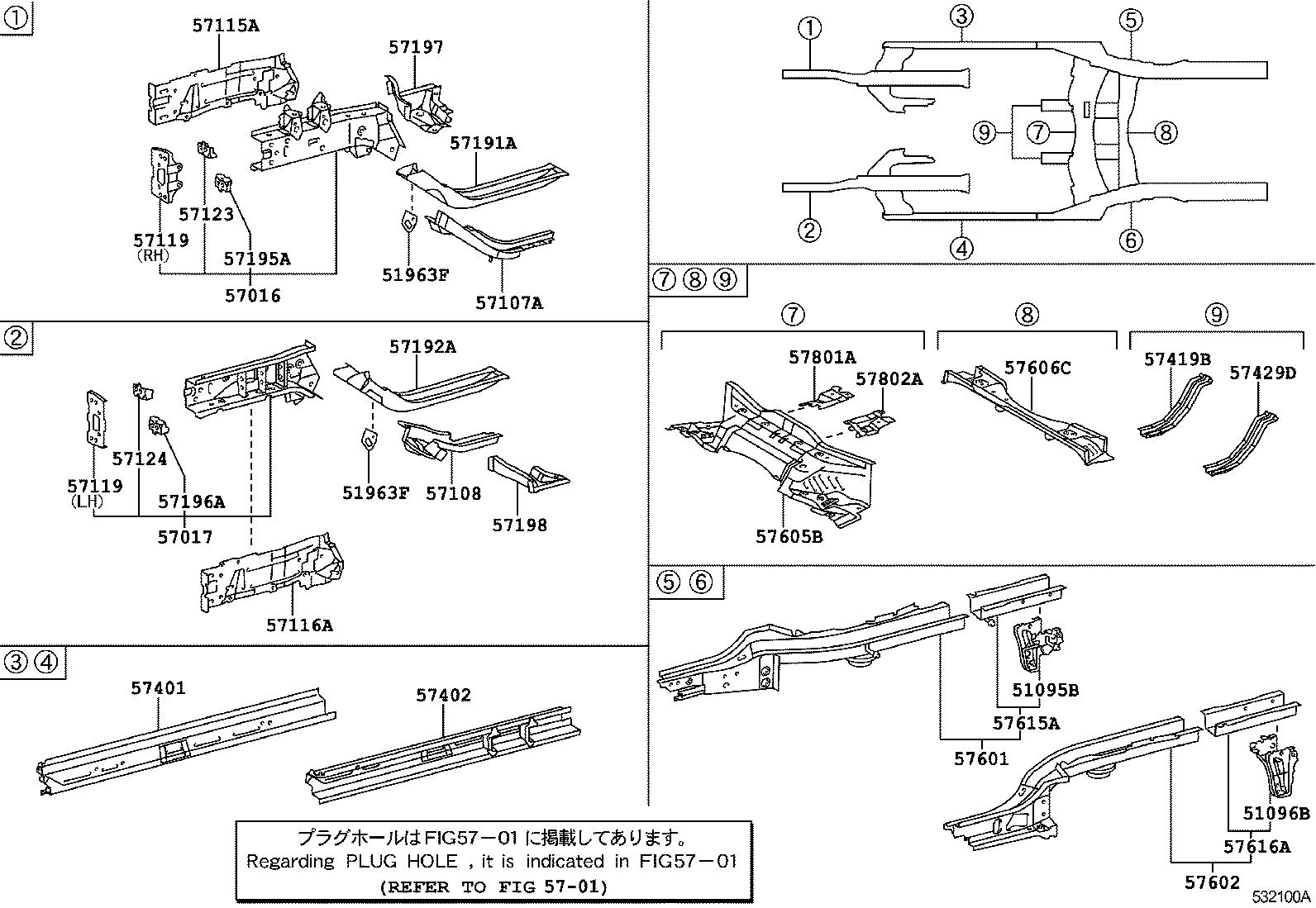 Toyota Belta Scp92 Bexek 141170 Body Group 5305 No1 57616a Car Mitsubishi Minicab U62t Wiring Diagram Parts Accessories Be Forward Auto